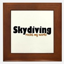 'Skydiving' Framed Tile