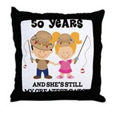 50th wedding anniversary Throw Pillows