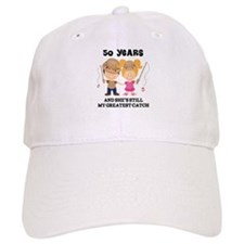 50th Anniversary Mens Fishing Baseball Baseball Cap