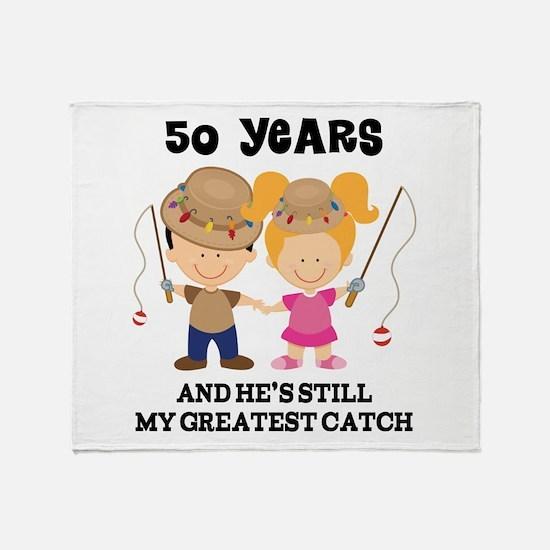 50 Years Greatest Catch Anniversary Throw Blanket