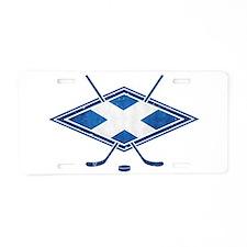 Scottish Ice Hockey Flag Aluminum License Plate
