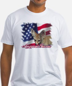 Patriotic Fennec Fitted T-shirt (Made in the USA)