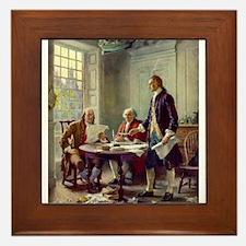 Declaration of Independence 1776 Framed Tile