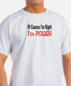 POLISH Ash Grey T-Shirt