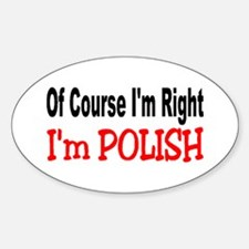 POLISH Oval Decal
