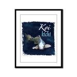 White Koi Framed Panel Print