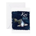 White Koi Greeting Cards (Pk of 10)