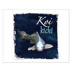 White Koi Small Poster