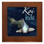 White Koi Framed Tile