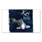 White Koi Rectangle Sticker