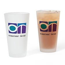 Purple, Teal, Blue OT Drinking Glass