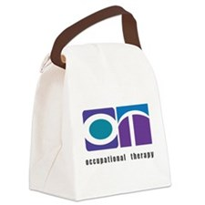 Purple, Teal, Blue OT Canvas Lunch Bag