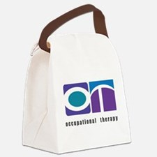 Purple, Teal, Blue OT Canvas Lunch Bag