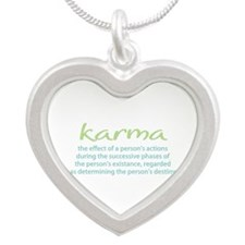 Karma Karma Silver Heart Necklace