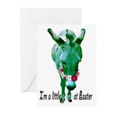 EASTER DONKEY Greeting Cards (Pk of 10)