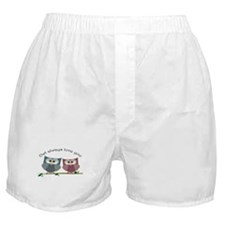 Owl always love cut cute Owls Art Boxer Shorts