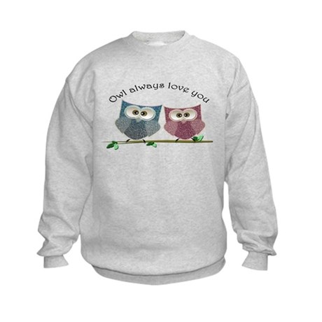Owl always love cut cute Owls Art Sweatshirt