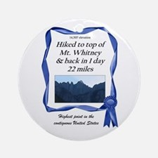 Mt. Whitney Ornament (Round)