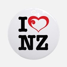 I love NZ Ornament (Round)