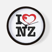 I love NZ Wall Clock