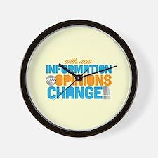 My Opinions Change Wall Clock