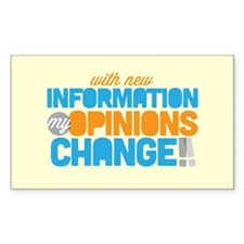 My Opinions Change Decal
