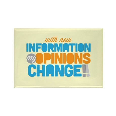 My Opinions Change Rectangle Magnet (10 pack)