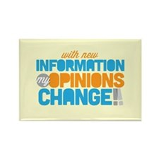 My Opinions Change Rectangle Magnet