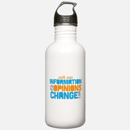 My Opinions Change Water Bottle