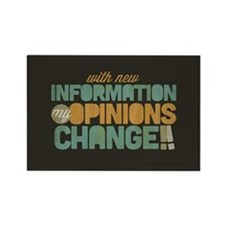 Grunge Opinions Change Rectangle Magnet