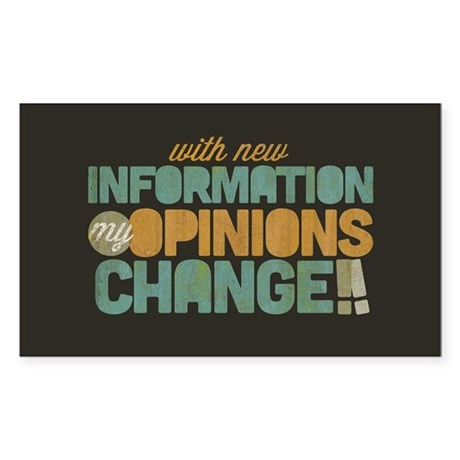 Grunge Opinions Change Sticker (Rectangle)