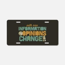 Grunge Opinions Change Aluminum License Plate