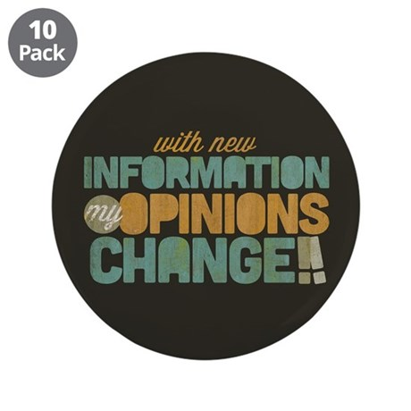 """Grunge Opinions Change 3.5"""" Button (10 pack)"""