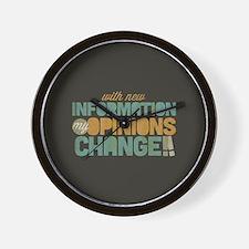 Grunge Opinions Change Wall Clock