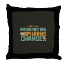 Grunge Opinions Change Throw Pillow