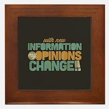 Grunge Opinions Change Framed Tile