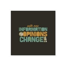 "Grunge Opinions Change Square Sticker 3"" x 3"""