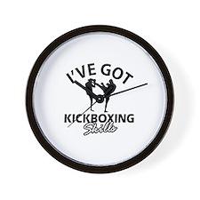 I've got Kickboxing skills Wall Clock