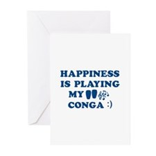 Conga Vector Designs Greeting Cards (Pk of 10)