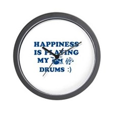 Drums Vector Designs Wall Clock