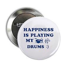 "Drums Vector Designs 2.25"" Button"