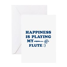 Flute Vector Designs Greeting Card