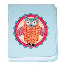 Cute Night Owl Colorful Design baby blanket
