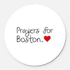 Prayers for Boston Round Car Magnet