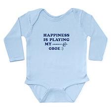 Oboe Vector Designs Long Sleeve Infant Bodysuit
