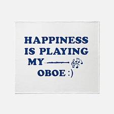 Oboe Vector Designs Throw Blanket