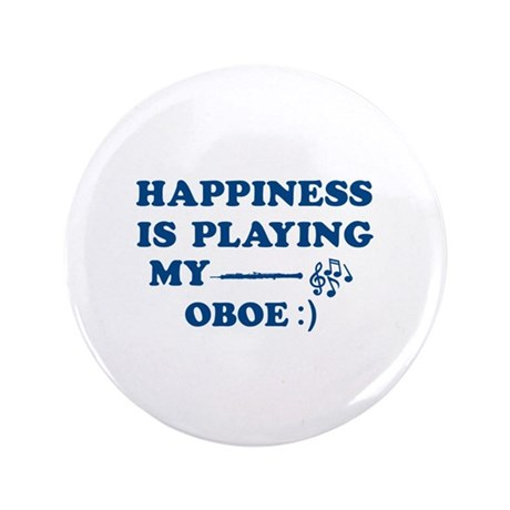 """Oboe Vector Designs 3.5"""" Button"""