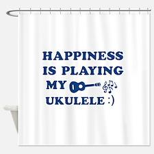 Ukulele Vector Designs Shower Curtain