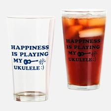 Ukulele Vector Designs Drinking Glass