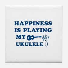 Ukulele Vector Designs Tile Coaster